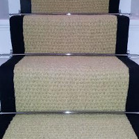 Finished Product - Bleached Coir Stair Rug