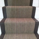 Jute Espresso and Cream Stripes