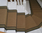 Jute Carpet Runner with Striped Border