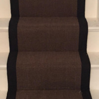 Sisal Chocolate Stair Rug/Carpet Finished Product